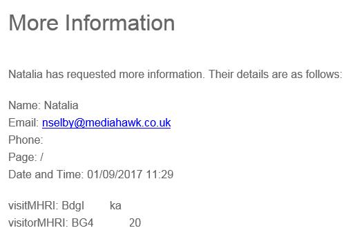 Email screenshot.