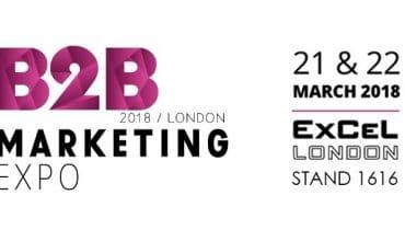 Don't miss us at B2B Marketing Expo 2018