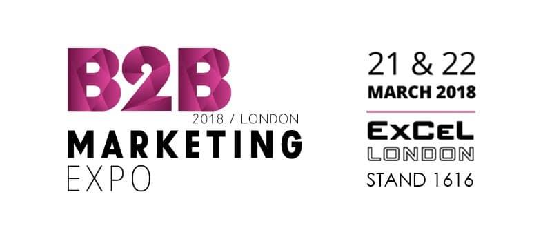 B2B Marketing Expo 2018 event details.